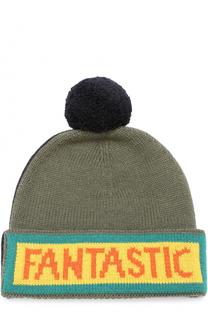 Шерстяная шапка с помпоном Fendi