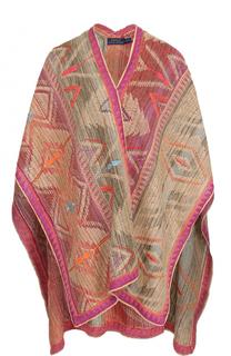 Кардиган из смеси льна и шелка с принтом Polo Ralph Lauren