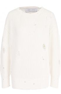 Хлопковый пуловер фактурной вязки Iro