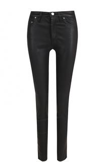 Однотонные кожаные брюки-скинни Iro