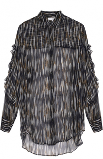 Прозрачная блуза свободного кроя с принтом Iro
