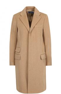 Пальто прямого кроя из смеси шерсти и кашемира Polo Ralph Lauren