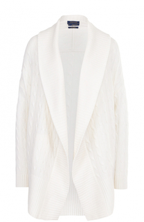 Кашемировый кардиган фактурной вязки Polo Ralph Lauren