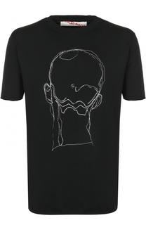 Хлопковая футболка с принтом Damir Doma