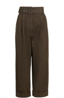 Укороченные джинсы с защипами и поясом Isa Arfen