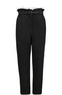 Укороченные джинсы с завышенной талией и поясом Isa Arfen