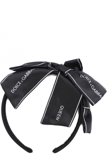 Ободок с бантом и логотипом бренда Dolce & Gabbana