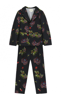 Текстильный костюм с принтом Gucci