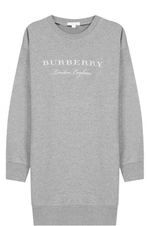 Платье джерси с принтом Burberry