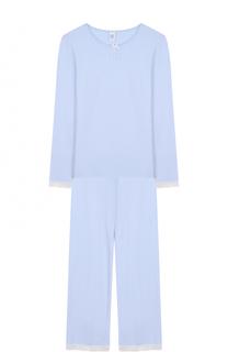 Пижама с кружевной отделкой и принтом Sanetta