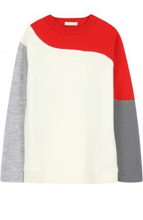 Шерстяной свитер с контрастной отделкой Stella McCartney