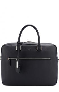 Кожаная сумка для ноутбука с плечевым ремнем Saint Laurent