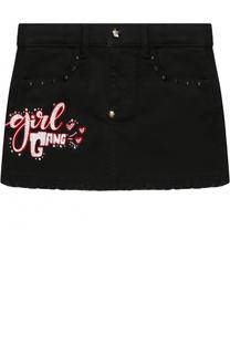 Джинсовая юбка с декоративной отделкой Philipp Plein