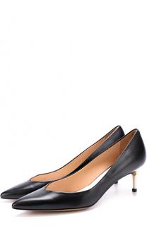 Кожаные туфли на каблуке kitten heel Maison Margiela