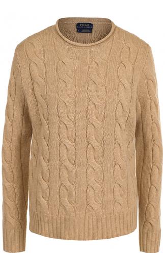 Пуловер фактурной вязки из смеси шерсти и кашемира Polo Ralph Lauren