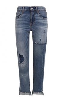 Укороченные джинсы прямого кроя с потертостями Polo Ralph Lauren