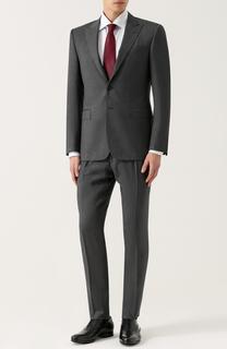 Шерстяной костюм с пиджаком на двух пуговицах Polo Ralph Lauren