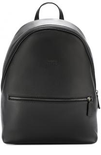 Кожаный рюкзак с внешним карманом на молнии Armani Collezioni