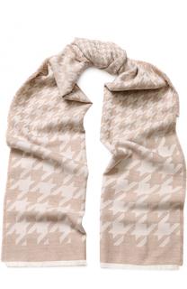 Шерстяной шарф с узором houndstooth Escada