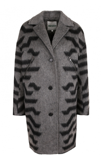 Пальто свободного кроя на пуговицах Kenzo
