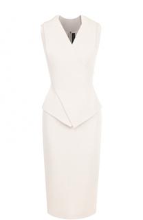 Платье-футляр с V-образным вырезом Roland Mouret
