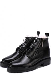Кожаные ботинки William с внутренней отделкой из овчины Saint Laurent