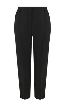 Укороченные шерстяные брюки с защипами Dolce & Gabbana