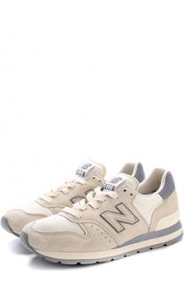 Замшевые кроссовки 995 на шнуровке New Balance