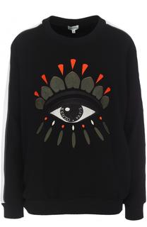 Пуловер с вышивкой и круглым вырезом Kenzo