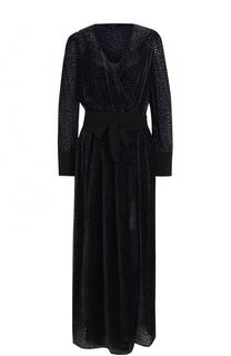 Приталенное бархатное платье-макси Tara Jarmon