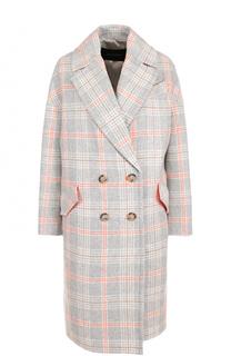 Двубортное шерстяное пальто в клетку Tara Jarmon