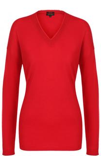 Кашемировый пуловер с V-образным вырезом Escada