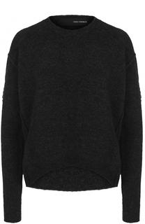Шерстяной пуловер свободного кроя с круглым вырезом Isabel Benenato