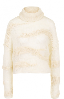 Шерстяной свитер фактурной вязки Isabel Benenato