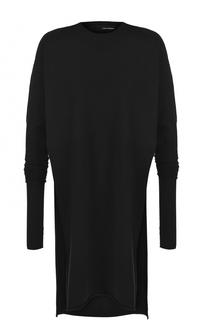 Удлиненный шерстяной пуловер с разрезами Isabel Benenato