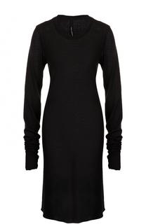 Платье из смеси хлопка и шерсти с длинным рукавом Isabel Benenato
