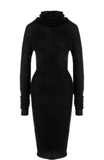 Платье из смеси хлопка и шерсти с высоким воротником Isabel Benenato