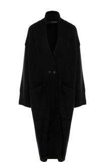 Удлиненное шерстяное пальто свободного кроя Isabel Benenato