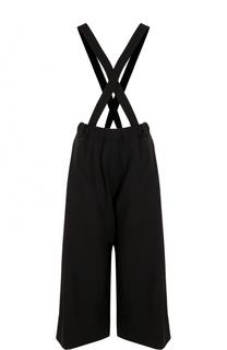 Шерстяные укороченные брюки с подтяжками Isabel Benenato