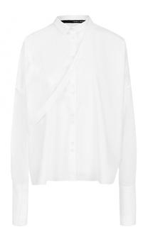 Хлопковая блуза свободного кроя Isabel Benenato