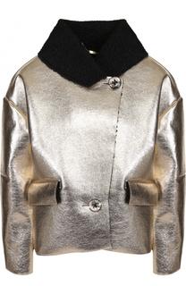 Куртка свободного кроя с металлизированной отделкой 5PREVIEW