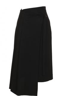 Шерстяная юбка асимметричного кроя Isabel Benenato