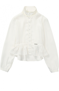 Блуза из вискозы с оборками Dsquared2