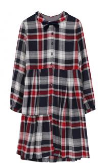 Платье-рубашка в контрастную клетку Il Gufo