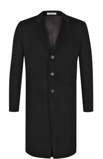 Однобортное кашемировое пальто с отложным воротником Armani Collezioni