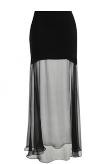 Мини-юбка с прозрачной шелковой вставкой Givenchy