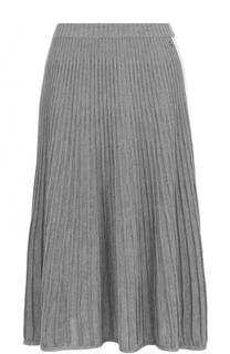 Шерстяная плиссированная юбка-миди Escada Sport