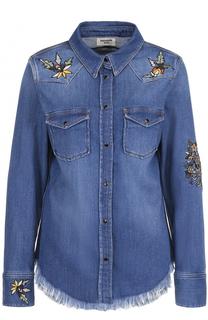 Джинсовая блуза с потертостями и вышивкой Zadig&Voltaire Zadig&Voltaire
