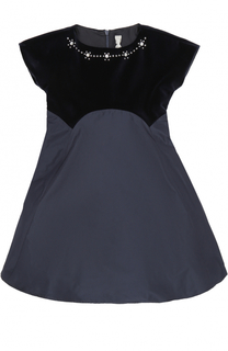 Платье с отделкой кристаллами Il Gufo
