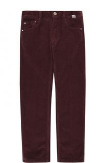 Вельветовые брюки прямого кроя Il Gufo
